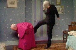 Bishop gets a kick up the Arse!